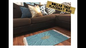 Dollar Floor by Diy Dollar Tree Placemat Rug No Sewing Youtube