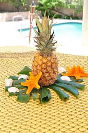 luau table centerpieces kara s party ideas pineapple table centerpiece from a tiki hut