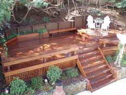 ipe deck steps benches storage benches planters retaining