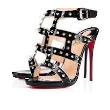 christian louboutin sexystrapi jazz studded zip red sole pump