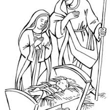 xmas coloring pages coloring page mary joseph baby jesus in new