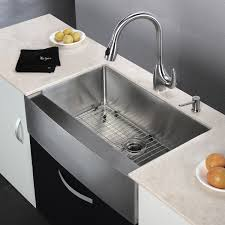 decorating stainless steel farmhouse sink for interesting kitchen
