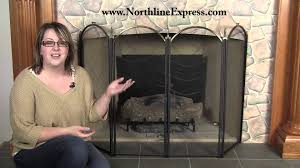black and brass four fold fireplace screen youtube