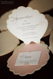 Beach Theme Wedding Invitations Sea Shell Shaped Invitations Adorable For An Under The Sea
