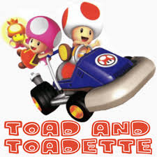 draw toad toadette wii mario kart easy step