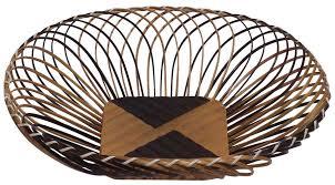 fruit basket u2013 beige u0026 brown u2013 handmade in bamboo u2013 kitchen