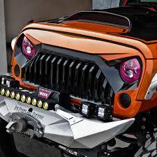 jeeps matte black xprite gladiator vader front matte black grille zs 0034k