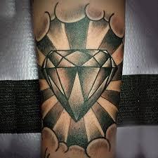 diamond tattoo neo traditional 70 diamond tattoo designs for men precious stone ink