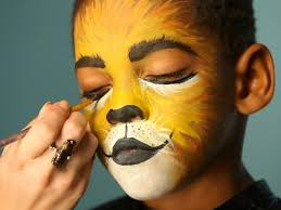 halloween baby face mask kid u0027s halloween makeup tutorial lion hgtv