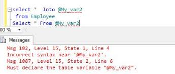 Sql Declare Temp Table Temporary Table Vs Temporary Variable In Sql Server