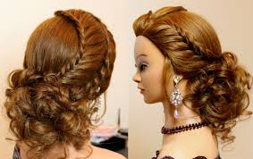 pics of bridal hairstyle hairstyle for long hair tutorial cute prom updo with braids youtube