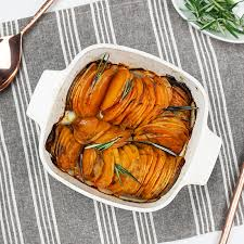roasted hasselback sweet potatoes bijoux bits