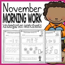 kindergarten morning busy work autumn writing thinking and math