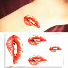 lips tattoo design compare prices on lip stickers online shopping buy low price lip