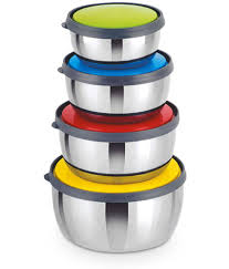 classic essential steel food container set of 4 buy online at