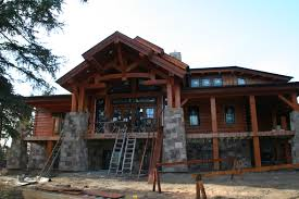 walkout basement house plans basement hillside house plans with walkout or sloping steep log home