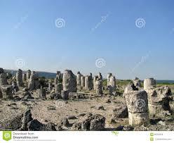 stone desert the stone desert in bulgaria stock image image of interesting