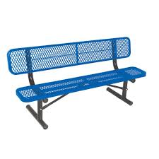 Portable Sports Bench Ultra Play 15 Ft Aluminum Portable Commercial Park Bench With