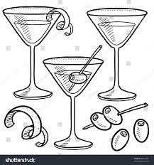 lemon drop martini clip art doodle style martini drink set including stock vector 99914906