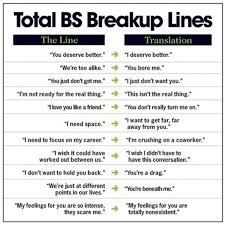 breakup excuses translated into what they really mean photo huffpost