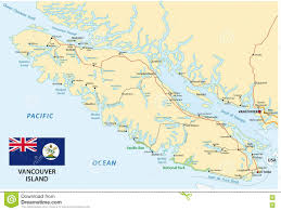 Vancouver Flag Vancouver Island Map With Flag Stock Vector Image 77861382