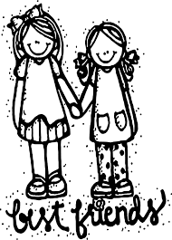 two friends hugging coloring page wecoloringpage