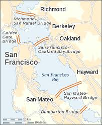 Map Of San Francisco Area by File San Francisco Bay Bridges Map En Svg Wikimedia Commons