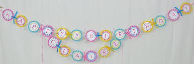 Birthday Decorations For Girls Girls Birthday Banner Chevron Birthday Decorations With