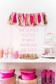 pink garland pink gold tassels garland delight department