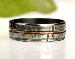 rustic mens wedding bands wedding bands etsy