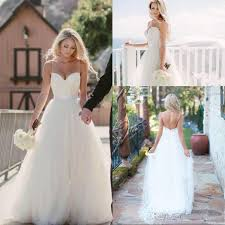spaghetti wedding dress 2017 vintage ivory spaghetti straps tulle sweetheart neckline