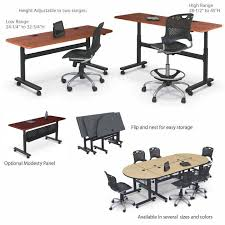 Adjustable Height Folding Table All Adjustable Height Flipper Folding Tables By Balt Options