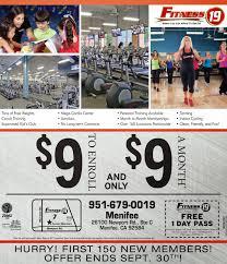 free one day pass to fitness 19 menifee 24 7