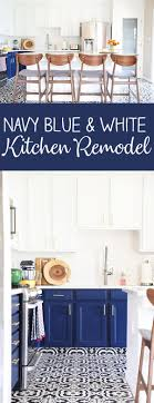 white kitchen cabinets black tile floor our navy blue and white kitchen remodel no 2 pencil