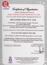 home theater certification iso certification recliners india