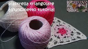 tutorial piastrelle uncinetto piastrella triangolare all uncinetto tutorial