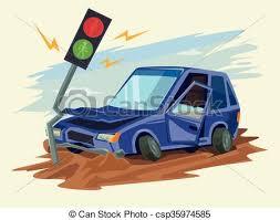 car crash road accident vector flat illustration vector search