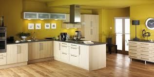 peinture cuisine jaune couleur mur cuisine idées de décoration capreol us