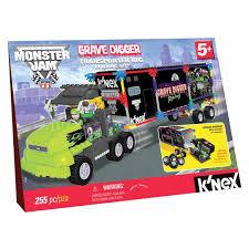 grave digger monster truck bedding k u0027nex monster jam grave digger transporter rig big w