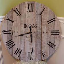 personalized wedding clocks rustic pallet clock custom handmade wall decor from reclaimed