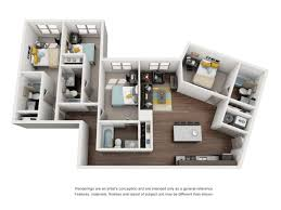 four bedroom townhomes student housing tallahassee the luxe on west call