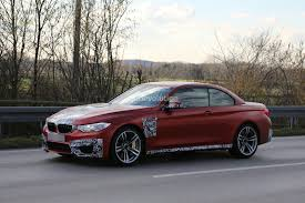 red bmw m4 2015 bmw m4 convertible spy shots indian cars bikes