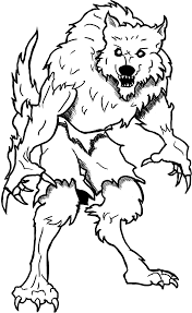 wolf coloring pages werewolf for adults color page animal baby of