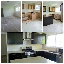before during after kitchen remodel by los angeles based