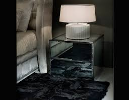 Glass Bedside Table by Nella Vetrina Visionnaire Ipe Cavalli Midnight Italian Bedside Table