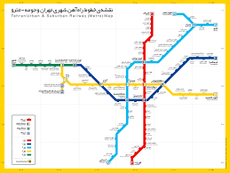 Metro Line Map by Tehran Maps And Directions Tehran Metro Lines Map Download