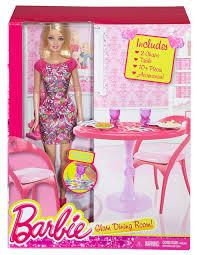 barbie dining room set barbie doll and dining room set