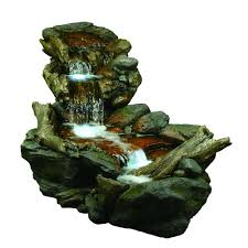 alpine 3 tier rainforest fountain with led lights win558 the