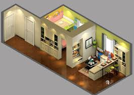 small homes interior design recent 3d isometric views of small house plans kerala home design