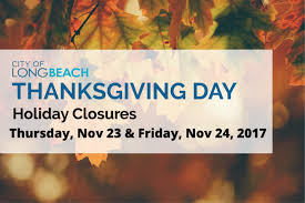 city of thanksgiving closures